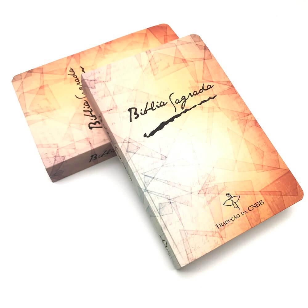 BÍBLIA SAGRADA CATOLICA CNBB LARANJA CAPA DURA