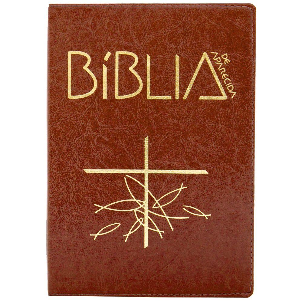 BÍBLIA SAGRADA DE APARECIDA BOLSO COM ZÍPER MARROM SANTUARIO