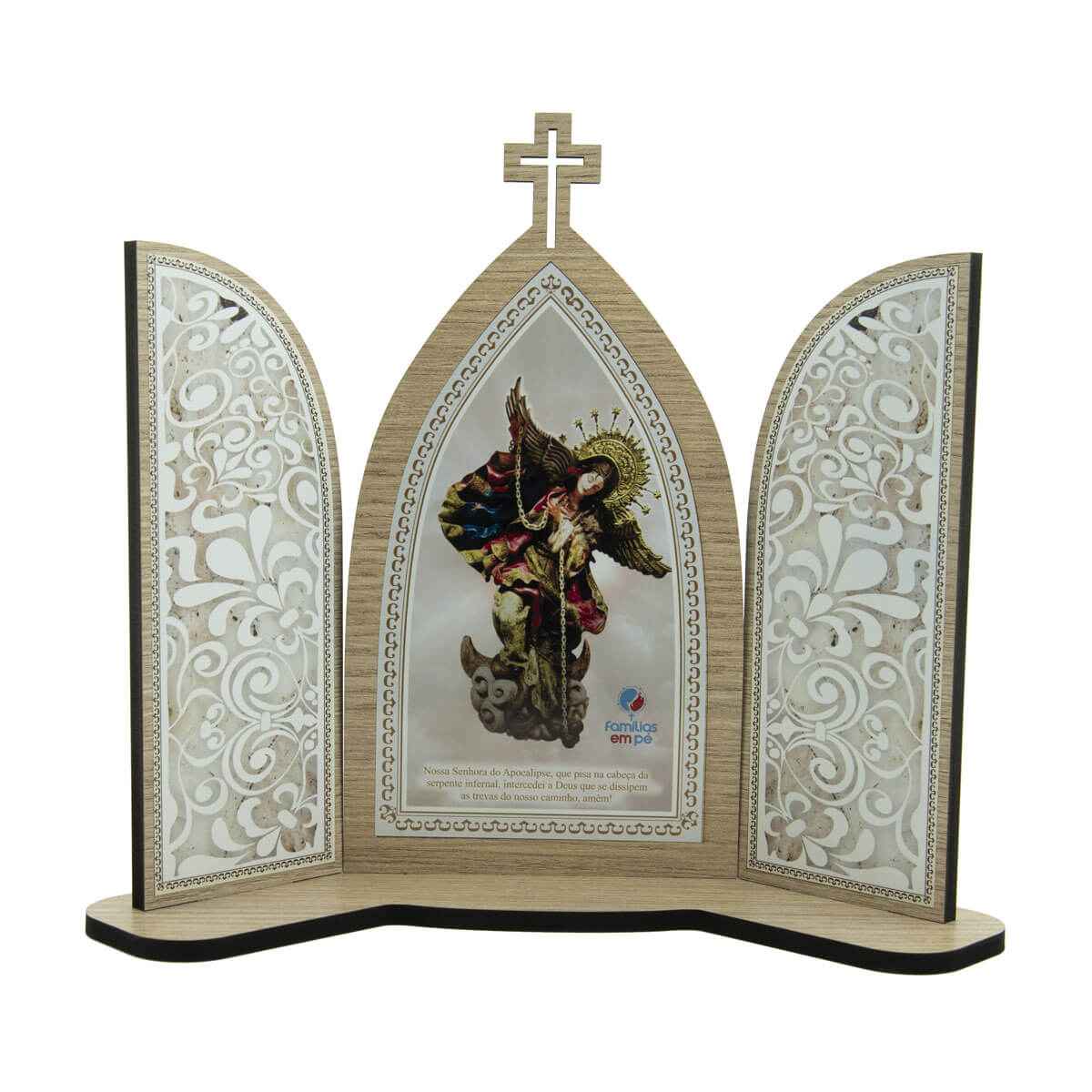 Capela Capelinha Tripla Nossa Senhora do Apocalipse 24cm