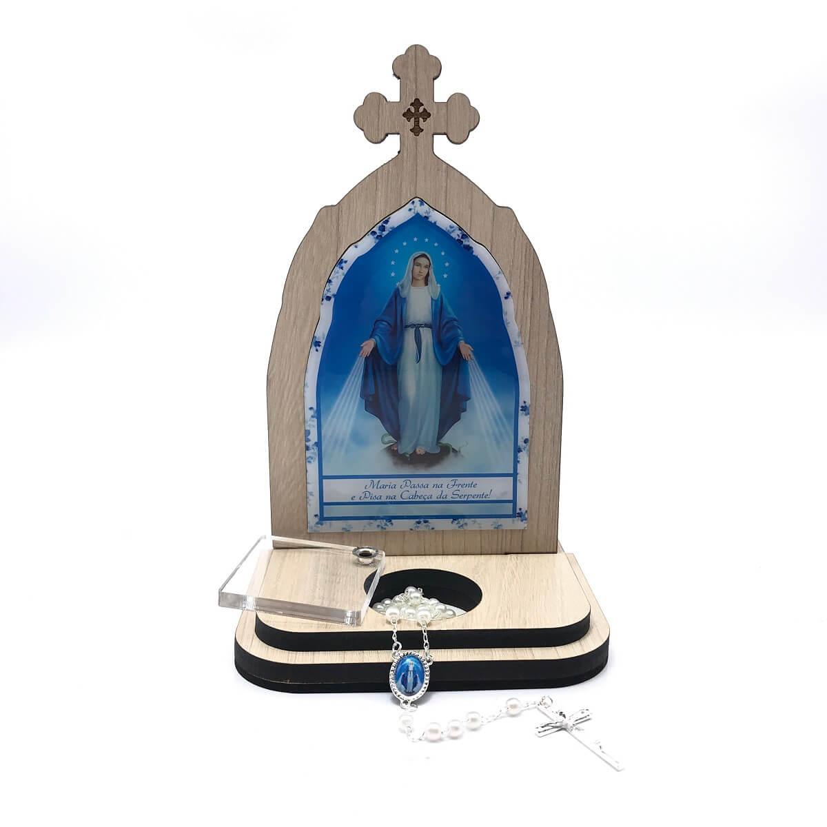 Capela com Porta Intenções e Terço Maria Passa na Frente