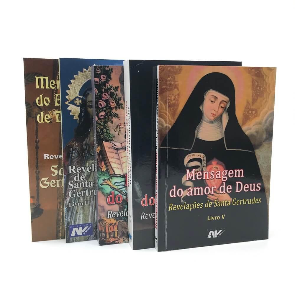 Coleção Livros Revelações de Santa Gertrudes - Mensagem do Amor de Deus (5 Volumes)