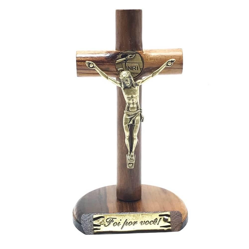 Crucifixo de Mesa e Parede Mãos Ensanguentadas De Jesus
