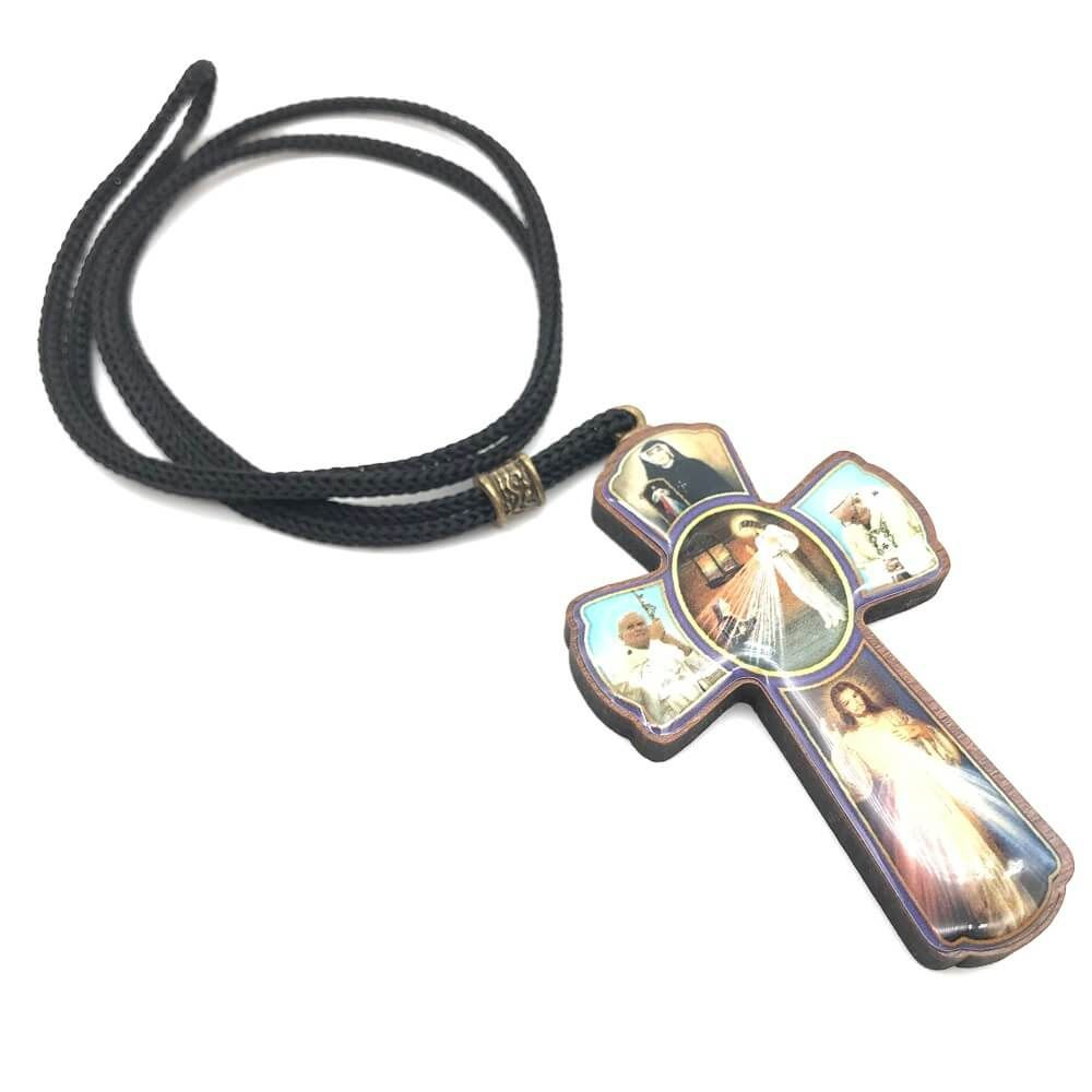 Cruz Resinada No Cordão Jesus Misericordioso
