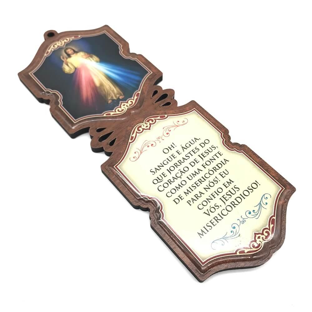 Escapulário de Porta Mdf Jesus Misericordioso