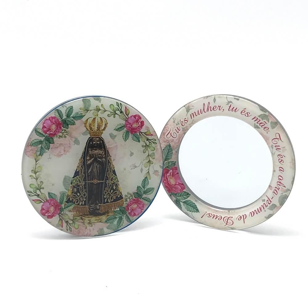 Espelho de Bolsa Portátil Nossa Senhora Aparecida