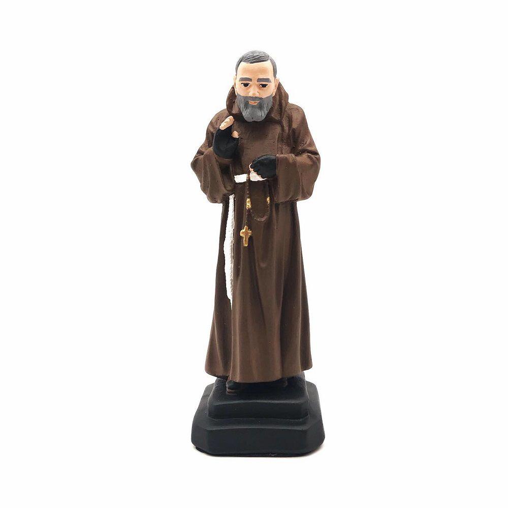 Imagem de Padre Pio Com Luvas Gesso 20 cm
