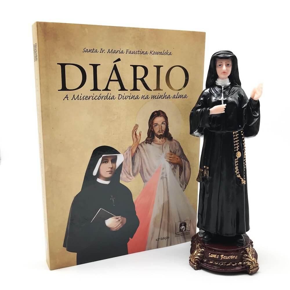 Kit Imagem e Diário de Santa Faustina