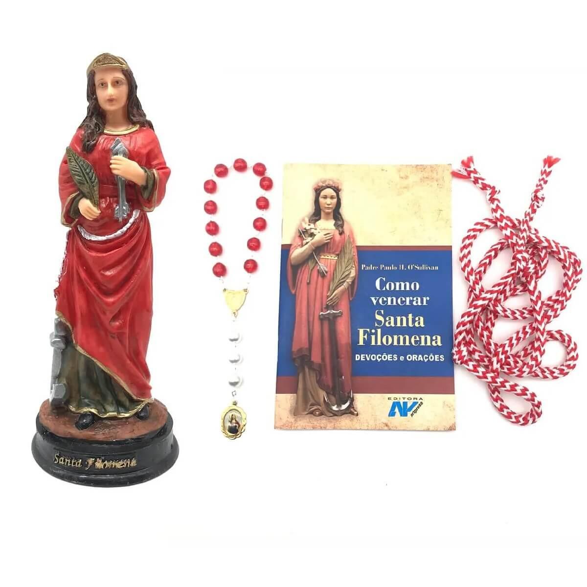 Kit Imagem E Livro Como Venerar Santa Filomena