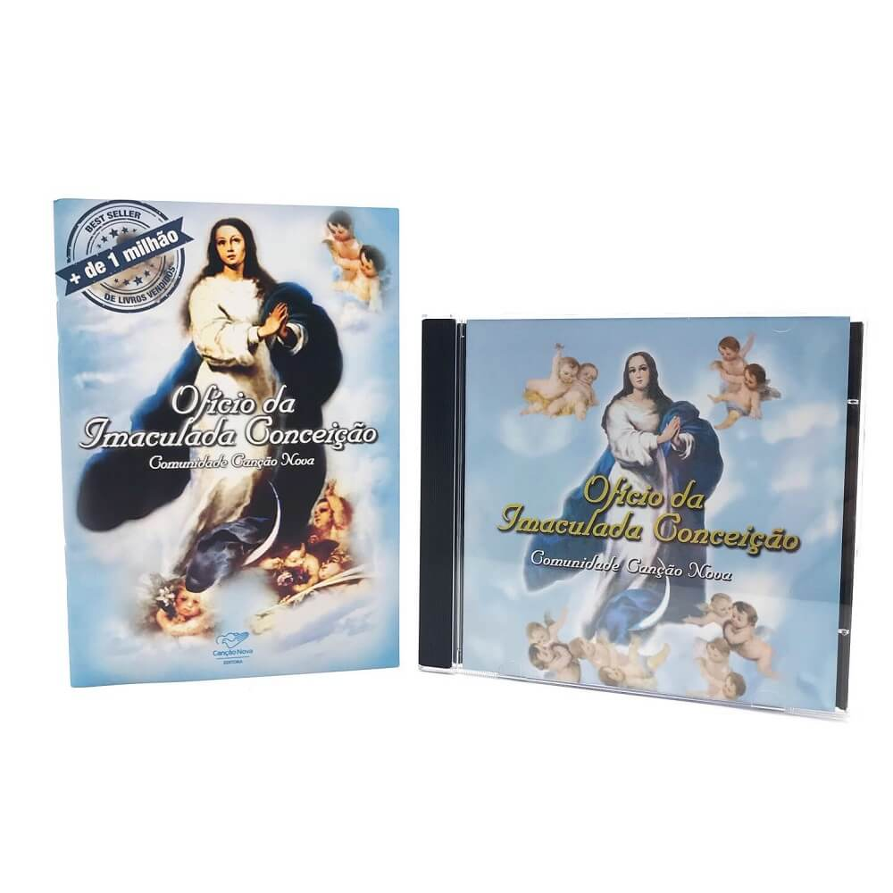Kit Livro e CD Oficio da Imaculada Conceição Comunidade Canção Nova