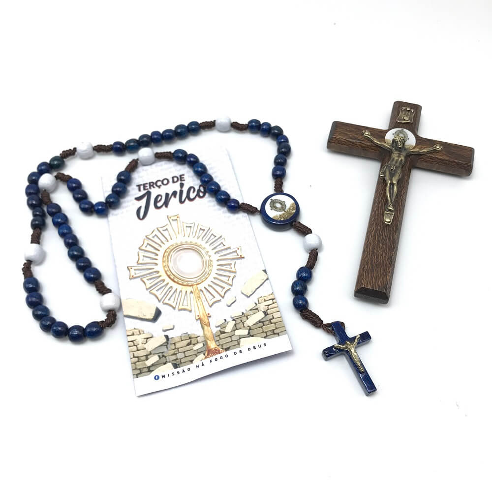 Kit Terço e Crucifixo Cerco de Jericó