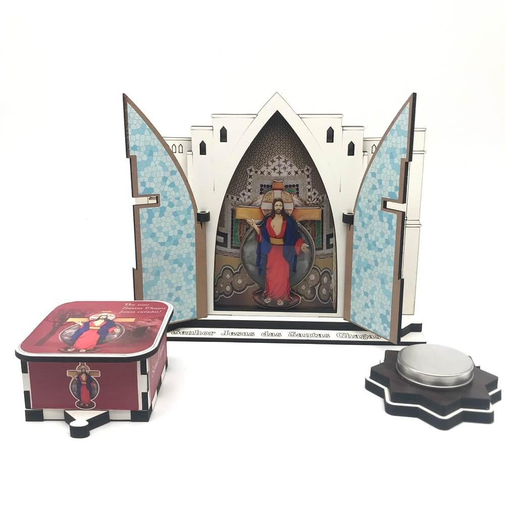 Oratório das Santas Chagas Replica Santuário Kit