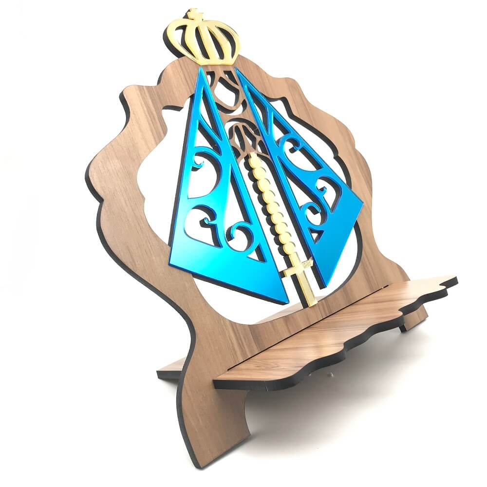 Porta Bíblia de Madeira MDF Nossa Senhora Aparecida em Acrilico