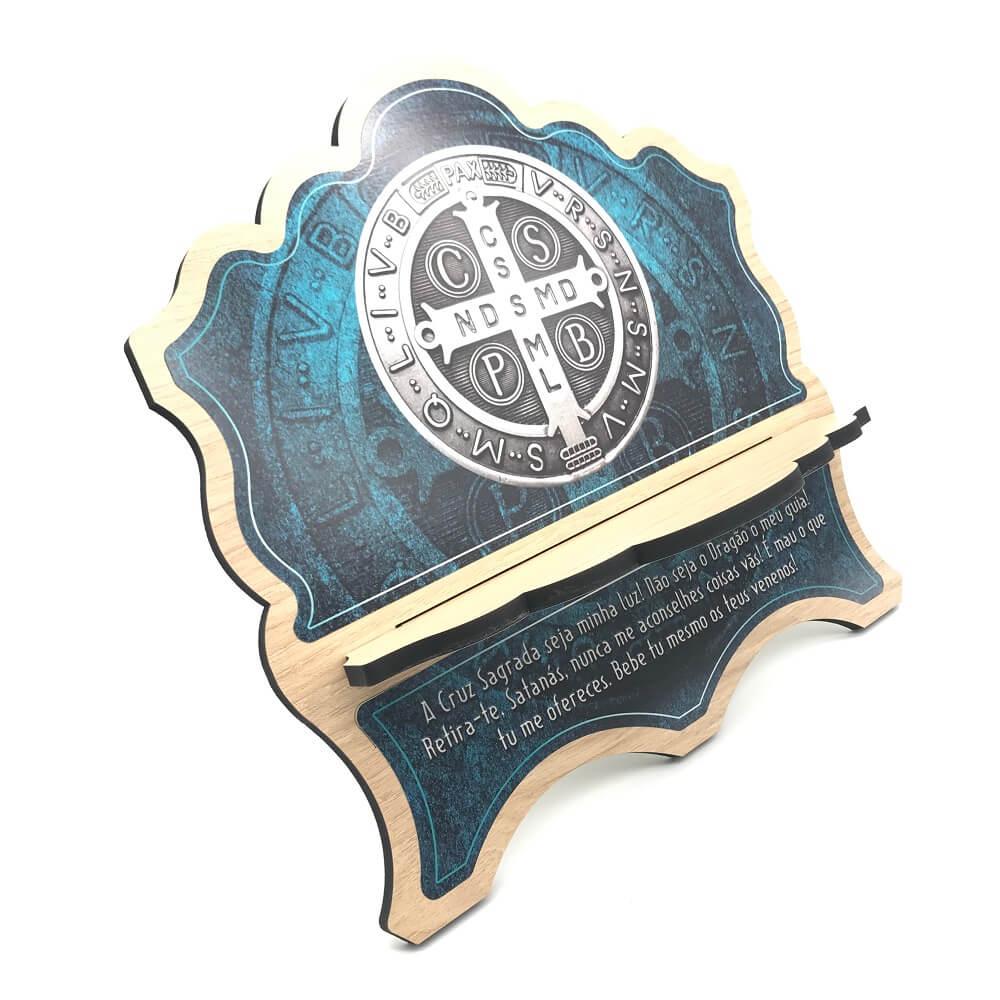 Porta Bíblia de Madeira MDF São Bento