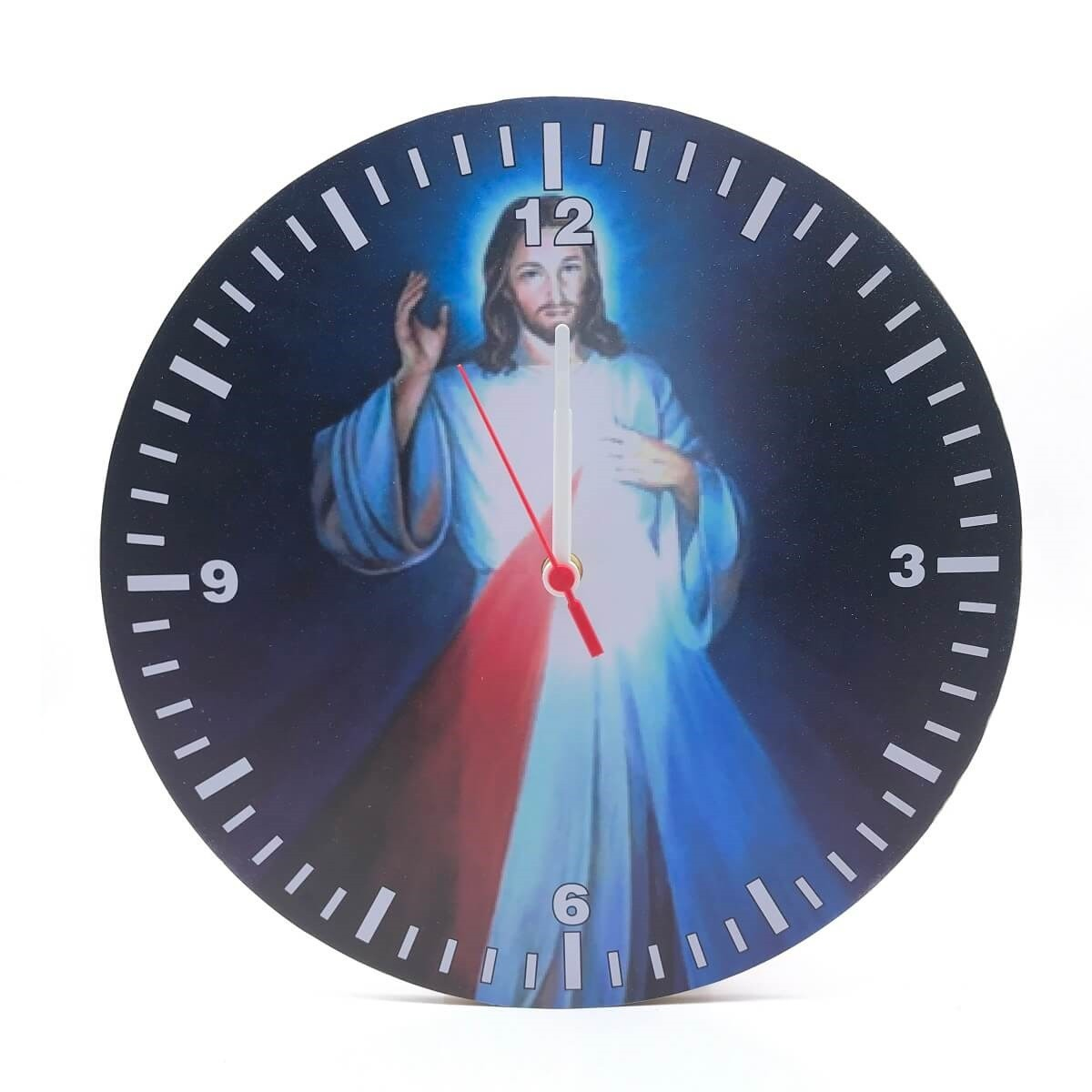 RELÓGIO DE PAREDE RELIGIOSO JESUS MISERICORDIOSO