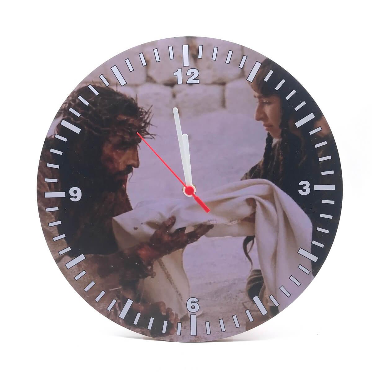 Relógio De Parede Religioso Paixão De Cristo