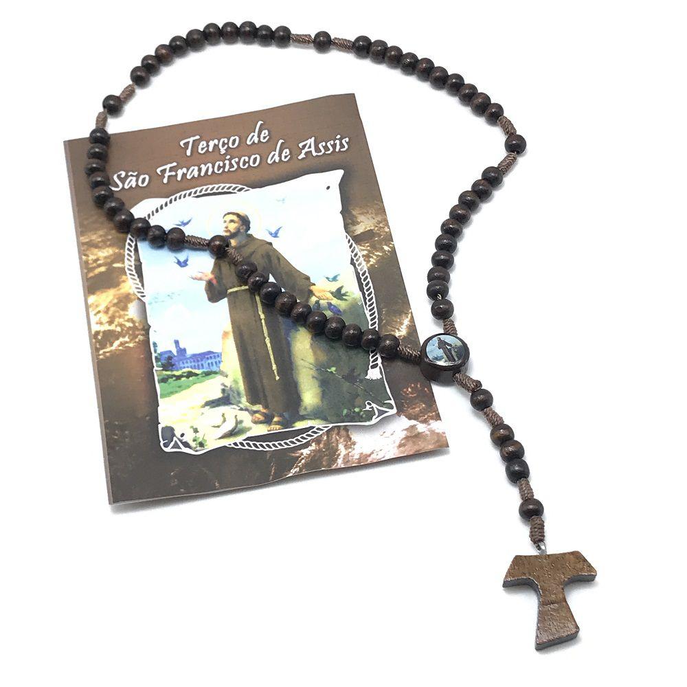 Terço de São Francisco de Assis com Folheto de Oração