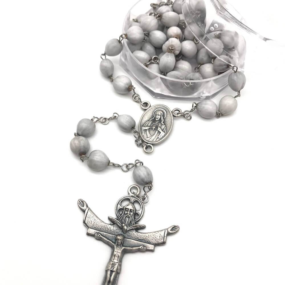 Terço Lágrimas de Nossa Senhora com Crucifixo da Santissima Trindade