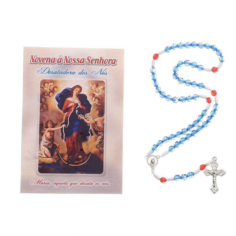 Terço Nossa Senhora Desatadora de Nós com Folheto de Oração