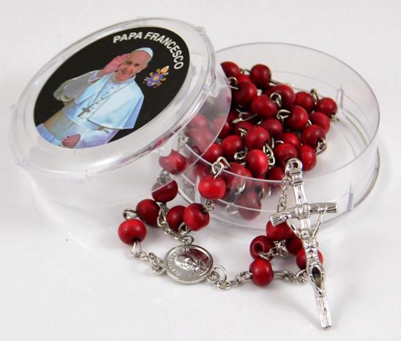 Terço Rosário Papa Francisco Perfumado Rosas