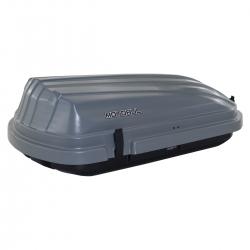 Bagageiro de teto maleiro com chave Motobul 300 litros cinza