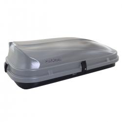 Bagageiro de teto maleiro com chave Motobul 510 litros cinza