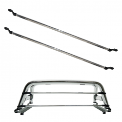 Barras de proteção de vidro alumínio polido para Santo Antônio universal kit 2 peças