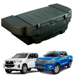 Caixa para caçamba Bepo 280 litros com kit de fixação Nova Hilux cabine dupla 2016 a 2020