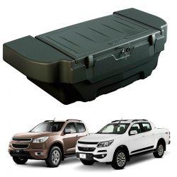 Caixa para caçamba Bepo 280 litros com kit de fixação Nova S10 cabine dupla 2012 a 2021