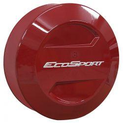 Capa de estepe Bepo rígida Ecosport 2013 a 2021 cor Vermelho Arpoador