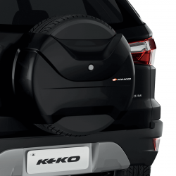 Capa de estepe Keko K3 Ecosport 2013 a 2017 cor Preto Ebony