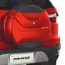 Capa de estepe Keko K3 Ecosport 2013 a 2021 cor Vermelho Arpoador