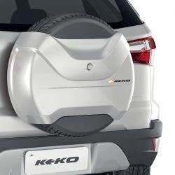 Capa de estepe Keko K3 Ecosport 2015 a 2021 cor Prata Dublin