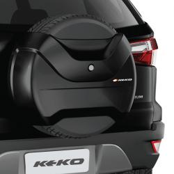 Capa de estepe Keko K3 Ecosport 2018 2019 2020 2021 cor Preto Bristol