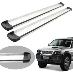 Estribo Bepo G3 alumínio L200 Sport 2004 a 2007 ou L200 Outdoor 2007 a 2012