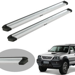 Estribo Bepo G3 Eco polido L200 Sport 2004 a 2007 ou L200 Outdoor 2007 a 2012