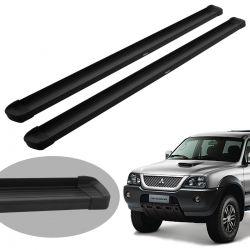 Estribo Bepo G3 alumínio preto L200 Sport 2004 a 2007 ou L200 Outdoor 2007 a 2012