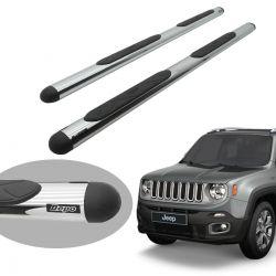 Estribo Bepo oval cromado Jeep Renegade 2016 a 2021