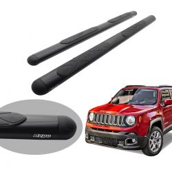 Estribo Bepo oval preto Jeep Renegade 2016 2017 2018 2019