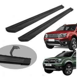 Estribo Bepo SUV 2 alumínio preto Duster 2012 a 2020