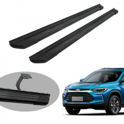 Estribo Bepo SUV 2 alumínio preto Nova Tracker 2021