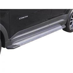 Estribo SUV 2 Bepo alumínio polido Hyundai Creta 2017 2018