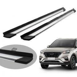 Estribo Bepo SUV 2 alumínio polido Hyundai Creta 2017 a 2021