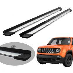Estribo Bepo SUV 2 alumínio polido Jeep Renegade 2016 a 2020