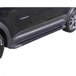 Estribo SUV 2 Bepo alumínio preto Hyundai Creta 2017 2018