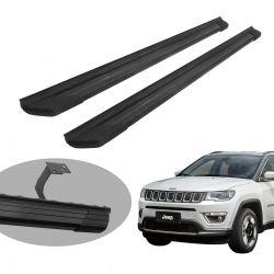 Estribo Bepo SUV 2 alumínio preto Jeep Compass 2017 2018 2019 2020
