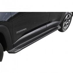 Estribo SUV 2 Bepo alumínio preto Jeep Renegade 2016 2017 2018
