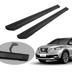 Estribo Bepo SUV 2 alumínio preto Nissan Kicks 2017 2018 2019 2020