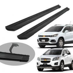 Estribo Bepo SUV 2 alumínio preto Tracker 2014 a 2019