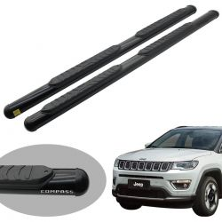 Estribo Track oval preto Jeep Compass 2017 2018 2019