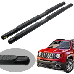 Estribo Track oval preto Jeep Renegade 2016 a 2020